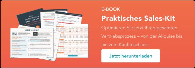 Vertriebskit mit E-Mail-Vorlagen, Checkliste für Verkaufsgespräche , Vorlage für die Vertriebsprognose und vielem mehr!