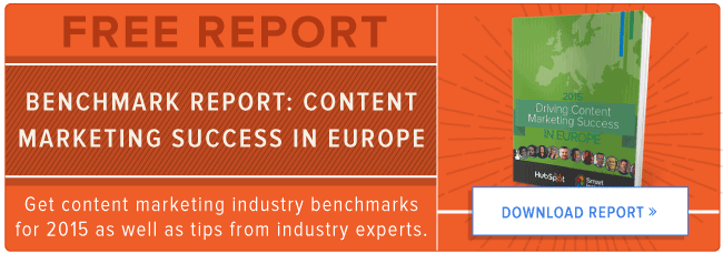 free european content marketing benchmarks report