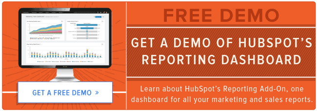get a demo of HubSpot's reporting dashboard