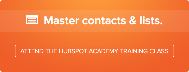master contacts free hubspot academy class