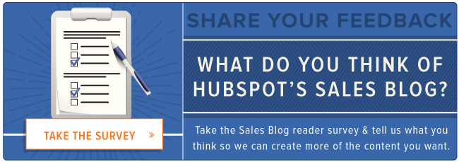take the HubSpot Sales Blog reader survey