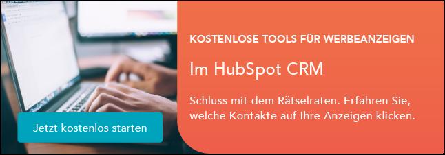 Kostenlose Tools für Werbeanzeigen im HubSpot CRM