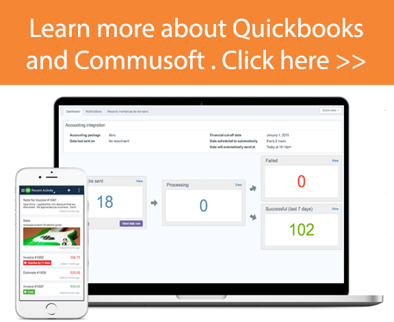 quickbooks and commusoft