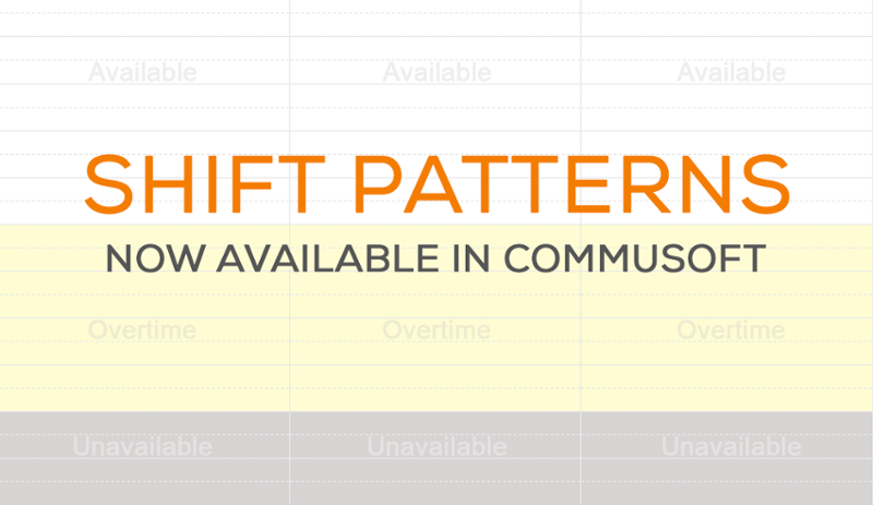 Want to create shift patterns in Commusoft?