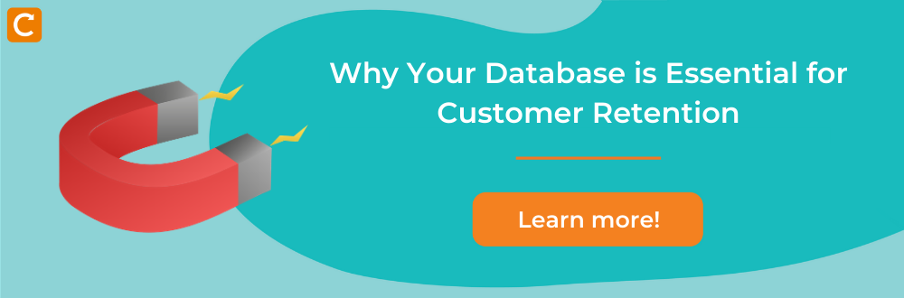 computer with title on how to use database for customer retention