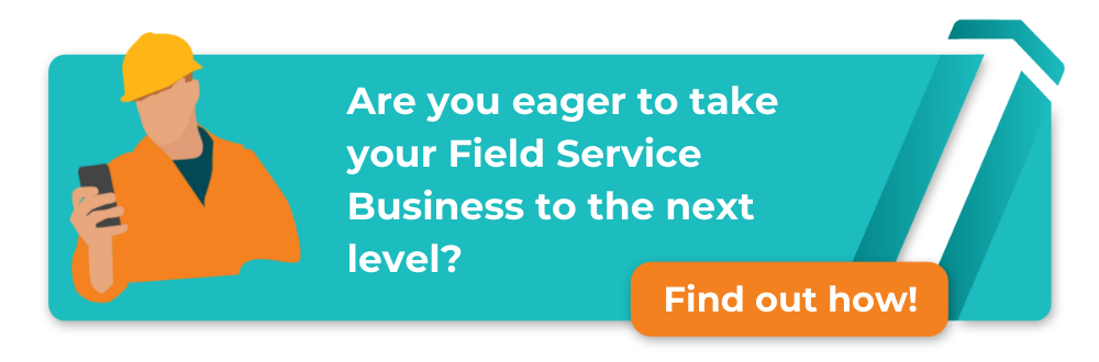 checklist with rocket ship - 10 steps to level up your field service business in 2020 - download now