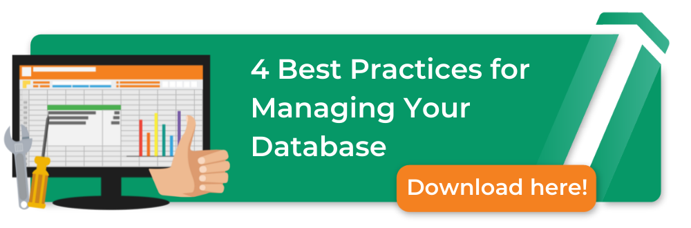 4 bets practices for managing your database, download here, image of books, commusoft and a thumbs up