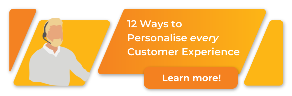 step-by-step infographic, 12 ways to personalise customer experience with software, download here