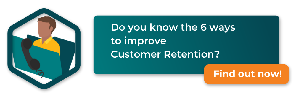 megaphone with text 6 way to improve customer retention click to download