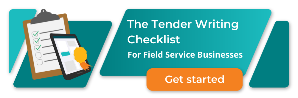 Tender writing checklist for field service businesses