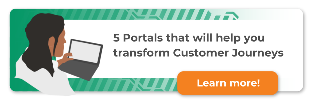 thumbs up next to a tablet, 5 online portal to enhance your customer's experience - make interacting with your business easy, learn more