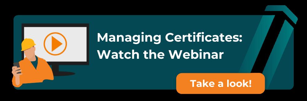 Watch certificates webinar