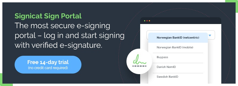 Signicat Sign Portal – Free 14-day trial