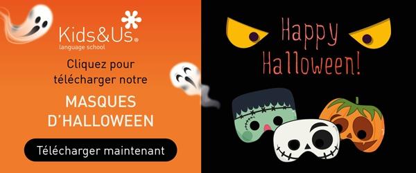 Téléchargez les Masques d'Halloween de Kids&Us