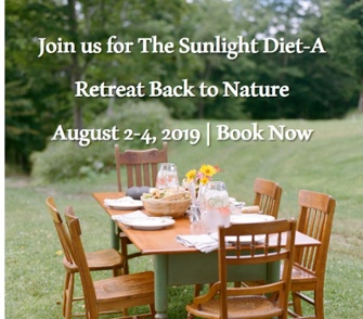 the sunlight diet woods hill farm retreat aug 2019