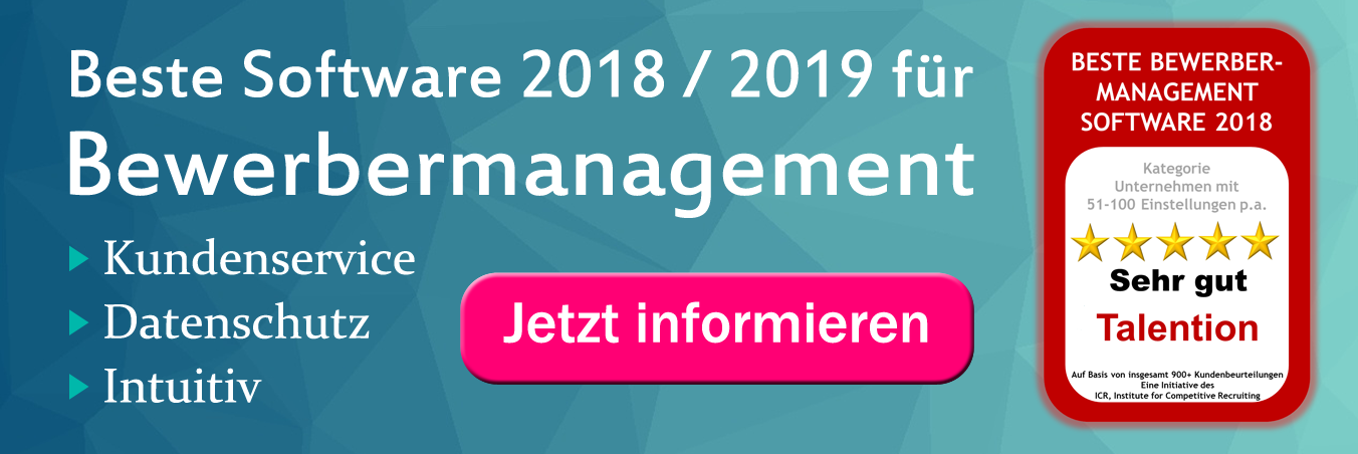 Beste Bewerbermanagement Software 2018 / 2019
