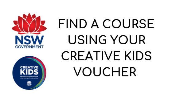 Find a course using your creative kids voucher