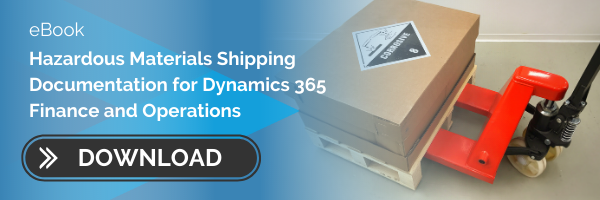 EBOOK: HAZARDOUS MATERIAL SHIPPING DOCUMENTATION FOR DYNAMICS 365 FO
