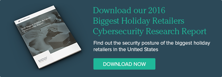 Download our Biggest Holiday Retailers Cybersecurity Report