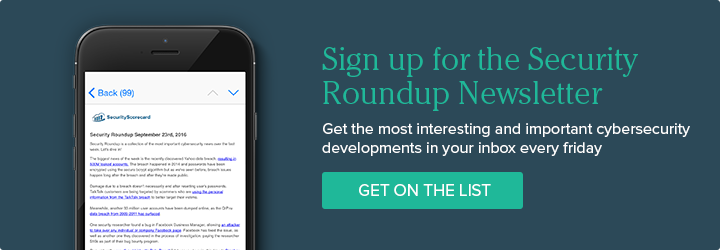 Sign up for the Security Roundup Newsletter