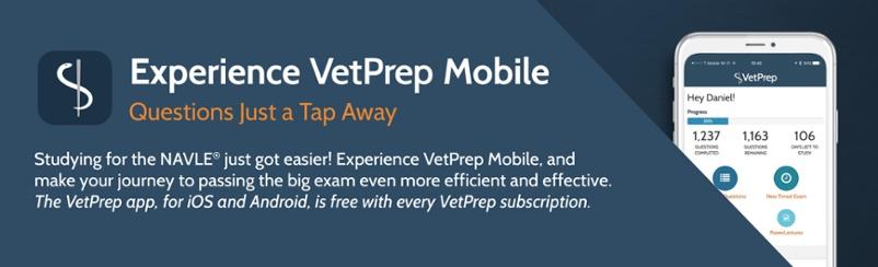 Download the VetPrep Mobile Companion App Now!