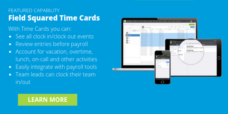 learn more field squared time cards