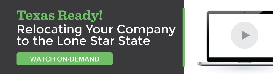 Watch On-demand: Webinar | Texas Ready! Relocating Your Company to the Lone Star State