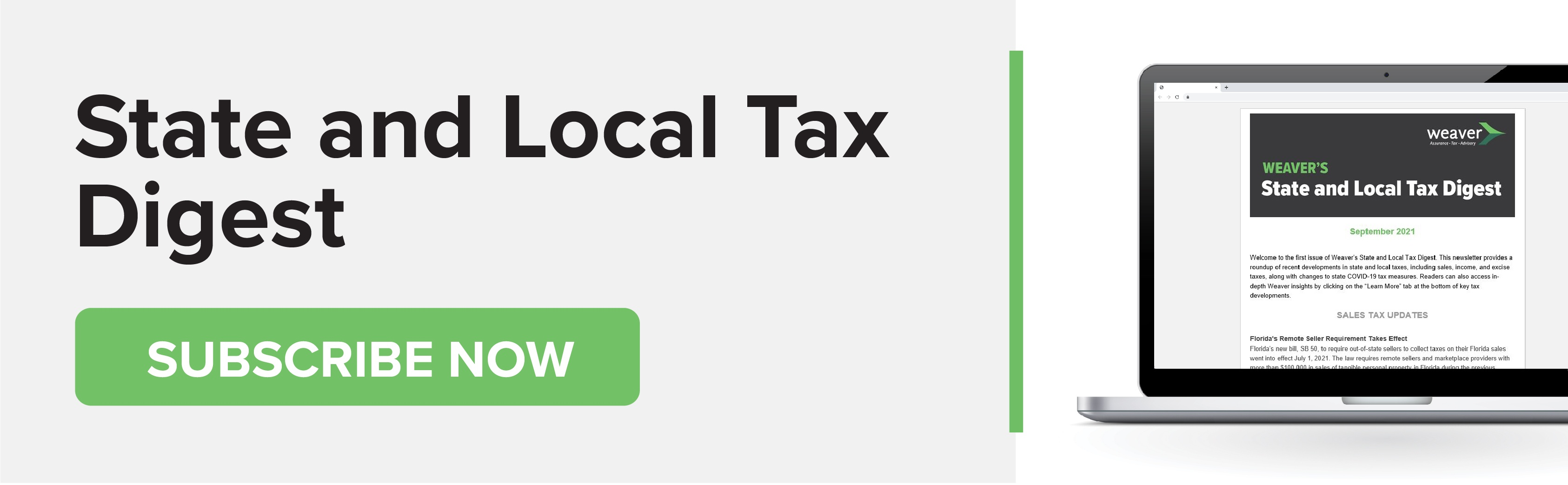 Subscribe to Weaver's State and Local Tax Digest