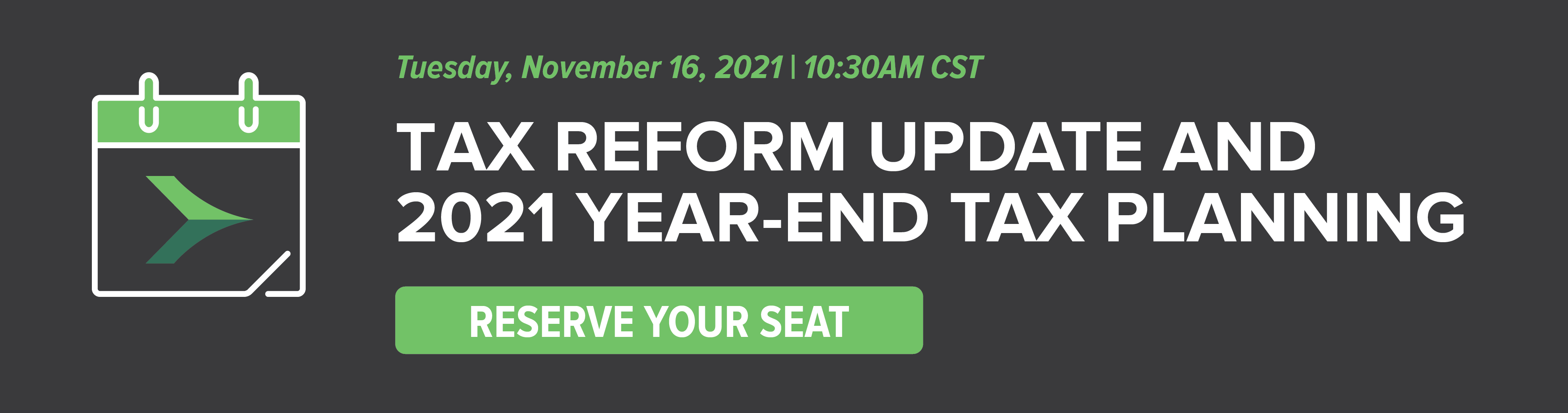 Tax Reform Update and 2021 Year-End Tax Planning Series