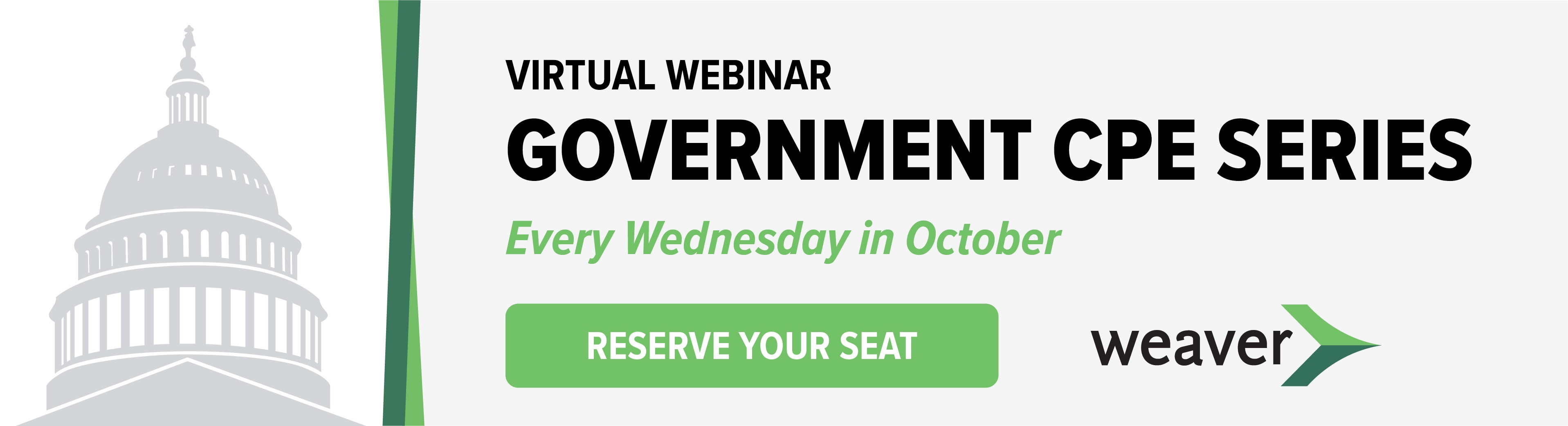 Reserve Your Seat: Government CPE Series