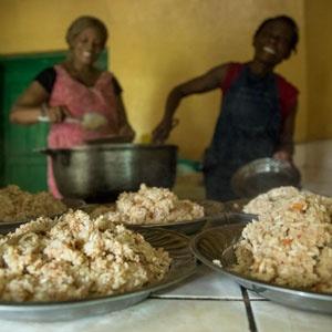 Women serving up nutritious vitafood