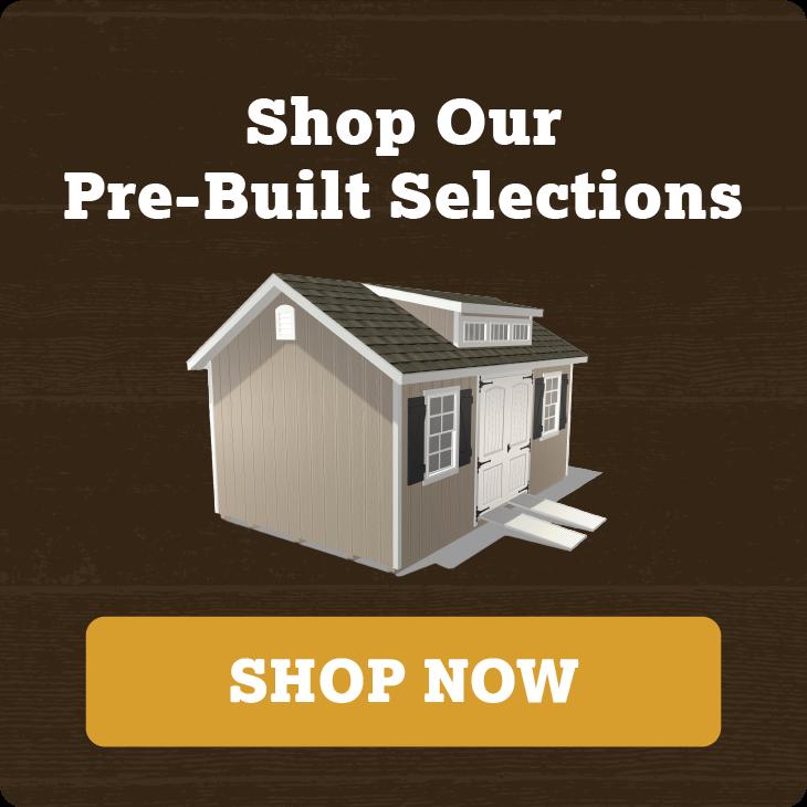 Shop Our Pre-built Storage Building Options.