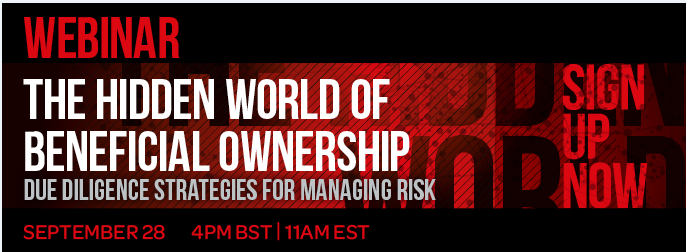 Register now: Due Diligence Strategies for Managing Risk Webinar