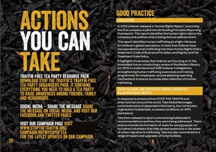 Tea Report Actions You Can Take