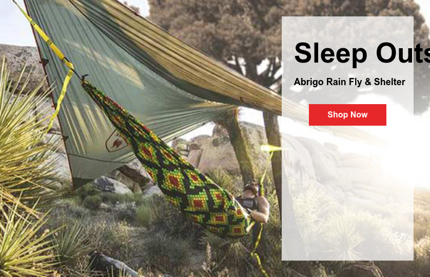Sleep Outside, Rain or Stars  Abrigo Rain Fly & Shelter Shop Now