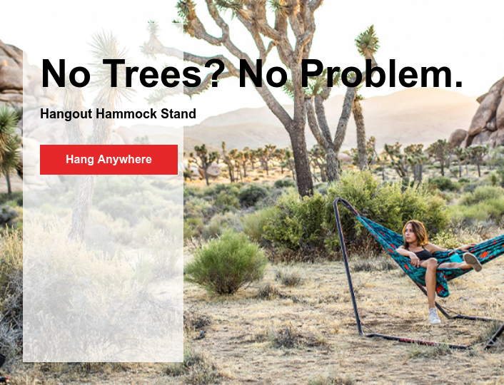 No Trees? No Problem.  Hangout Hammock Stand Hang Anywhere