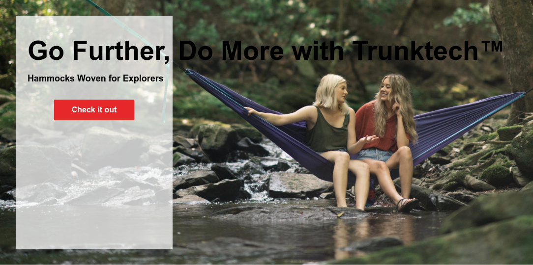 Go Further, Do More with Trunktech  Hammocks Woven for Explorers Check it out