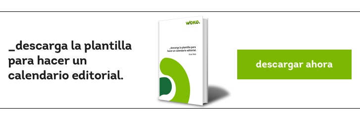 Plantilla calendario editorial blog