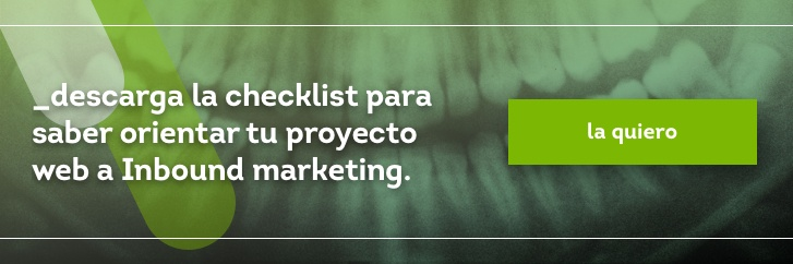 Checklist metodología Inbound marketing