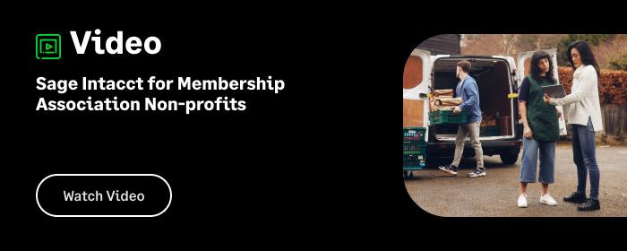 Sage Intacct for Membership Association Nonprofits