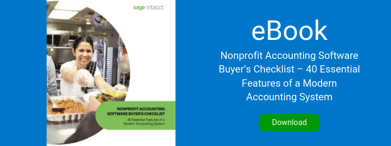 Nonprofit Accounting Software Buyer's Checklist