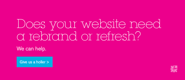 Does your website need a rebrand or refresh? Contact us today.