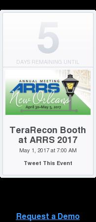 Request a Demo  <https://www.eventbrite.com/e/terarecon-booth-at-arrs-2017-tickets-32167138778>