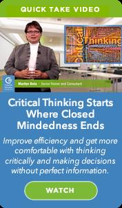 CEG On Demand Webinar: Critical Thinking