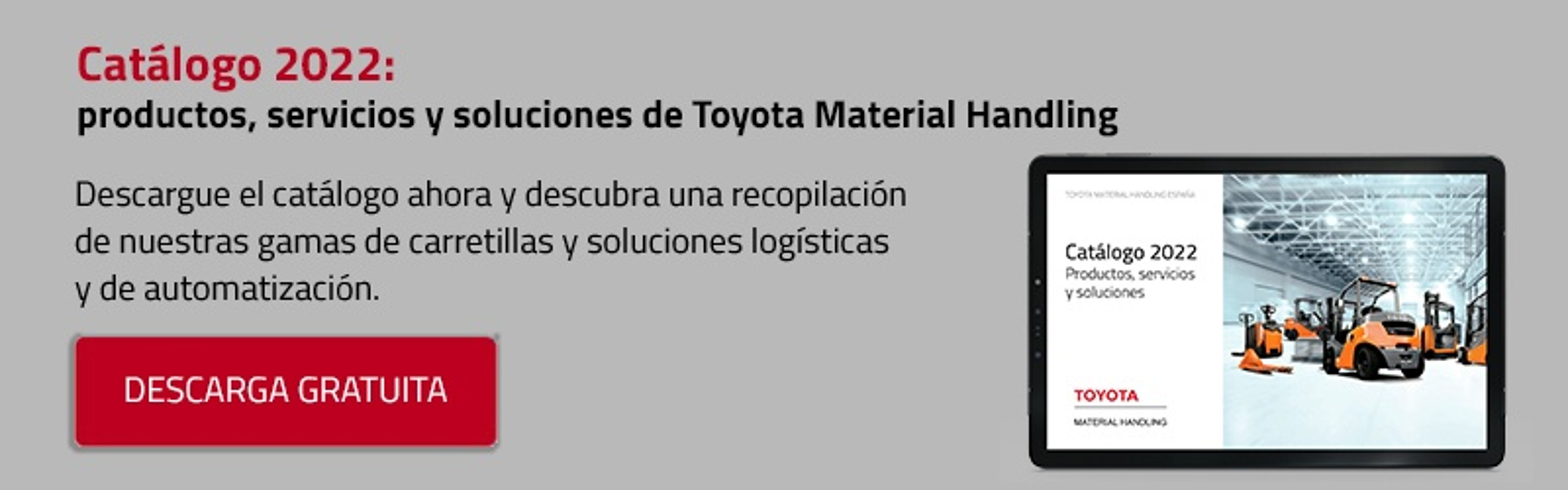 Catálogo Carretillas Elevadoras Toyota Material Handling España