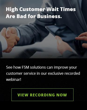 Field service management improves customer service