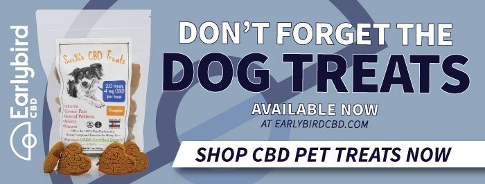 Suzie's CBD Dog Treats available at Earlybird CBD
