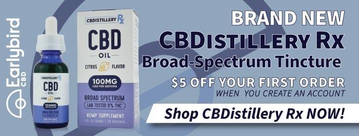 New CBDistillery Rx Broad-Spectrum Citrus Flavor CBD Tincture