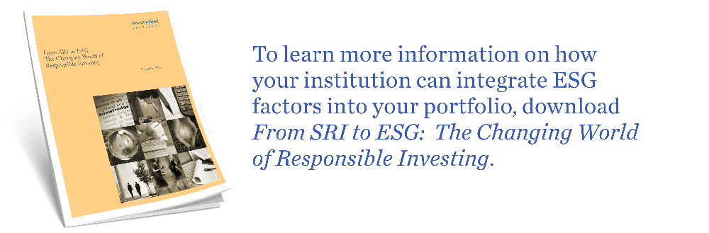 Learn more on ESG and SRI factors