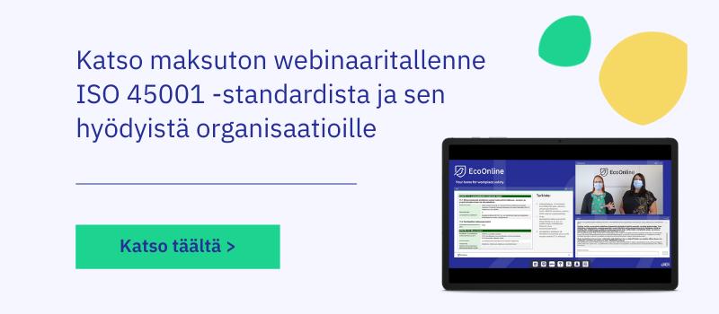Maksuton webinaari: ISO 45001